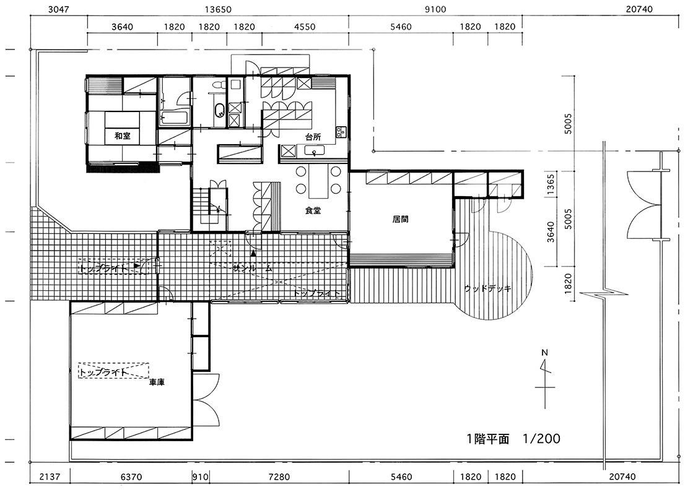 図1 「秋田の家」平面図