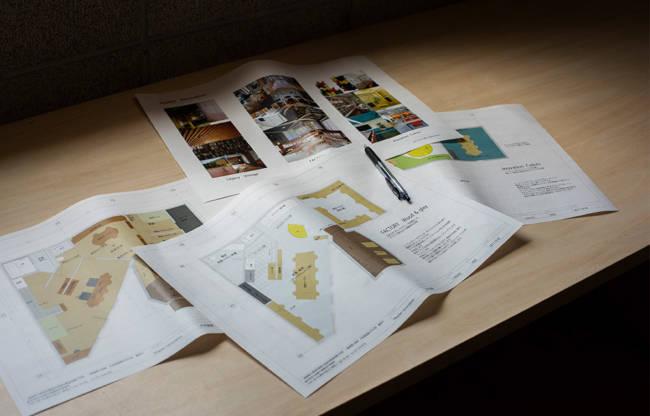 オフィス兼居住スペースとして再活用するために、建築家の丸田絢子さんにプランを依頼