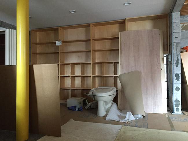 工事6日目、1階の様子