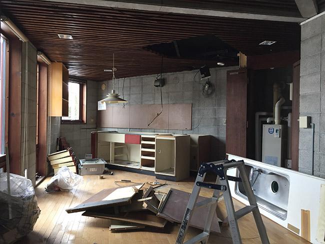 工事6日目、2階の様子