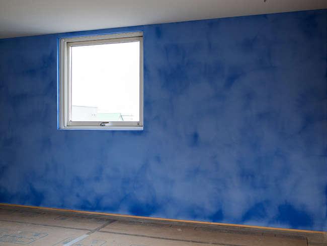 壁塗りから4時間後の様子
