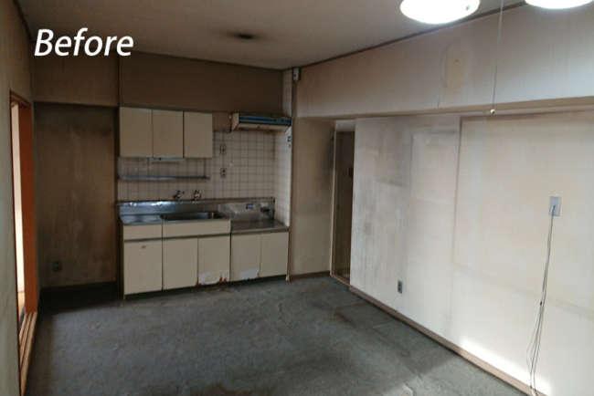 今は造作の収納スペースとなった既存のキッチン