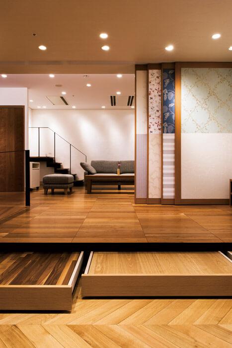 さまざまな床材や壁材