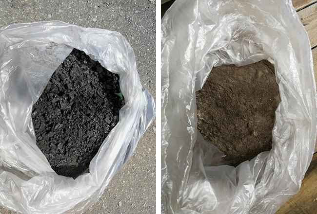 煙突の口まわりや中の方にも、煤がこびりついて固まっている。これは何か問題がある証