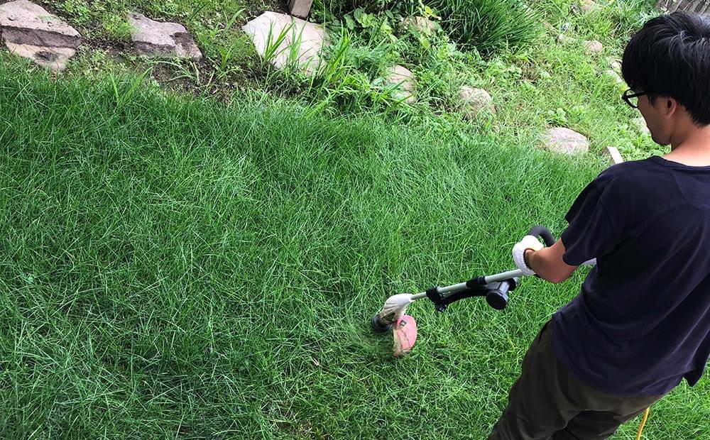 芝刈りもしてみた