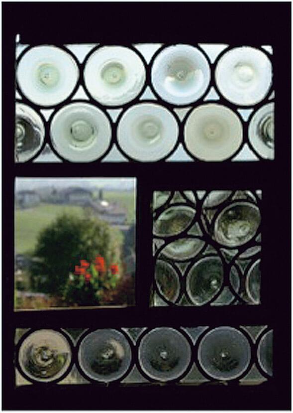 図1 昔のガラスは手づくり(クラウン・ガラス)