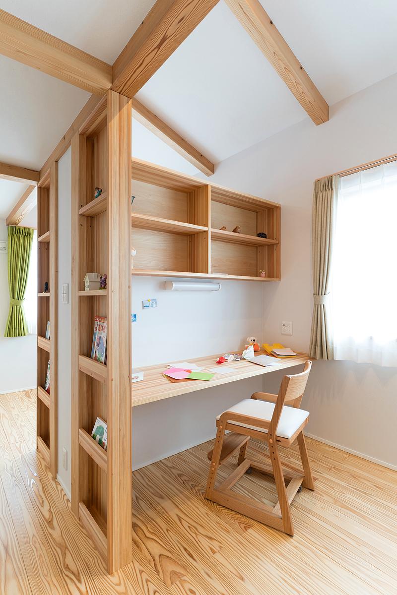 子ども部屋は、成長に応じて区切ることも可能
