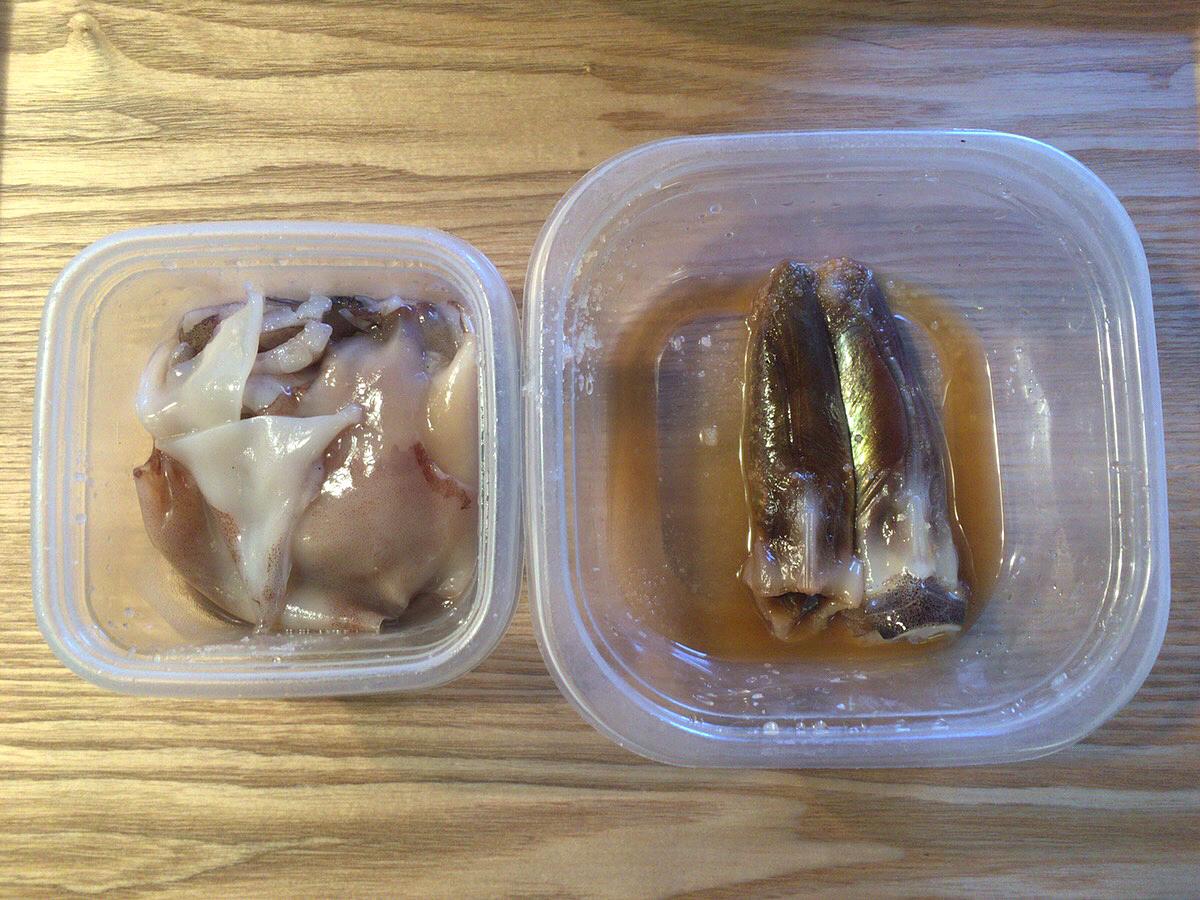 イカのゴロとミミやゲソ