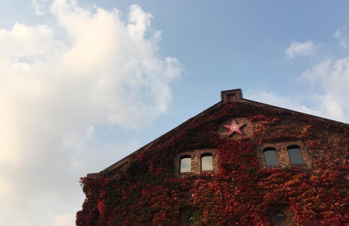 サッポロファクトリーの紅葉