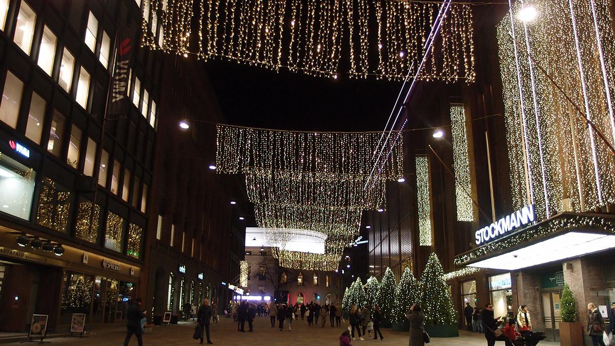 ヘルシンキのクリスマスイルミネーション