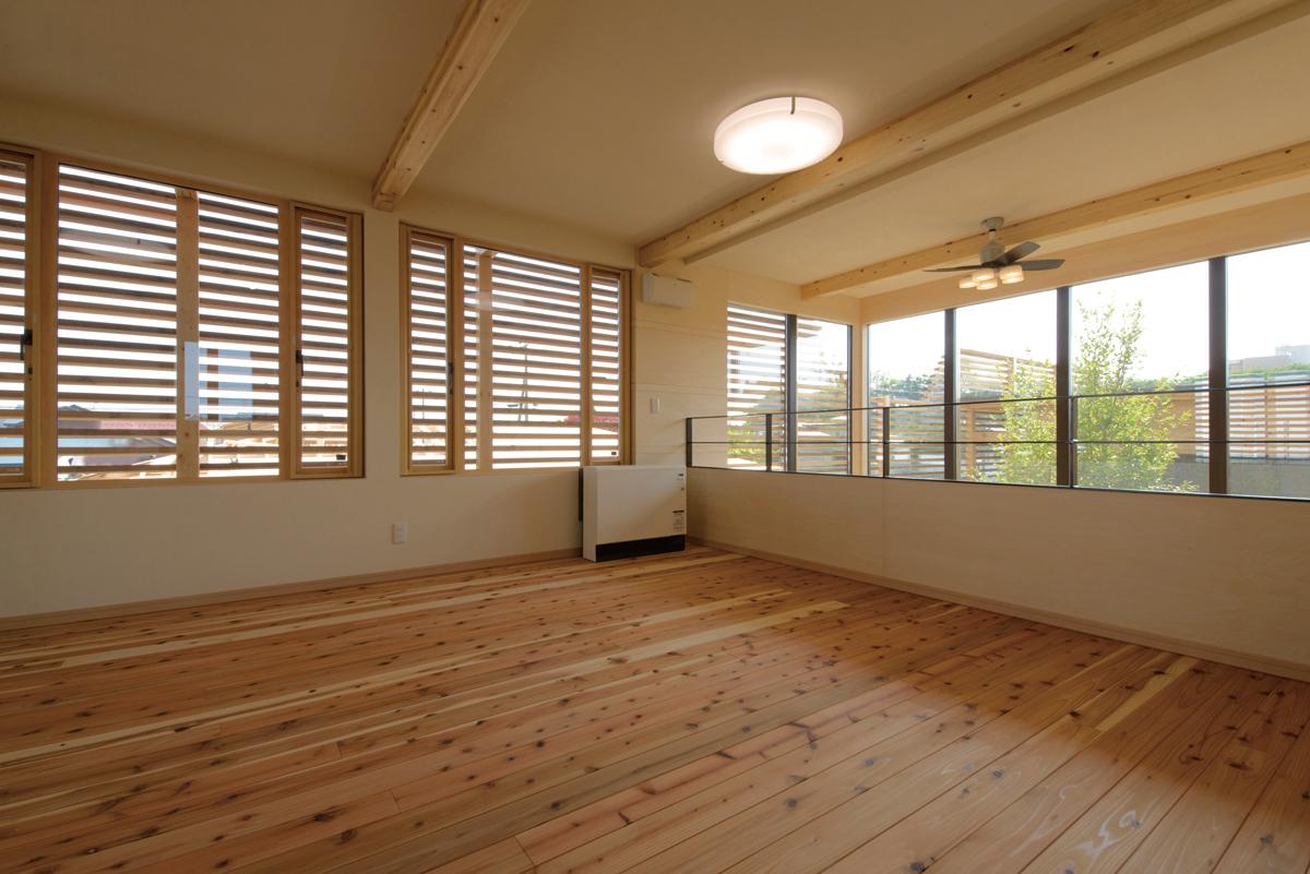 オープンな子ども部屋。必要に応じて、仕切って使用することも可能
