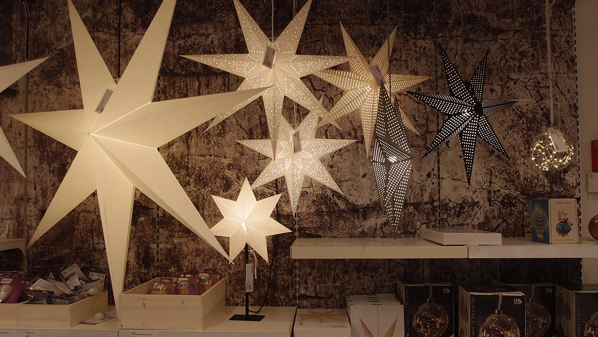 クリスマスデコレーションの星