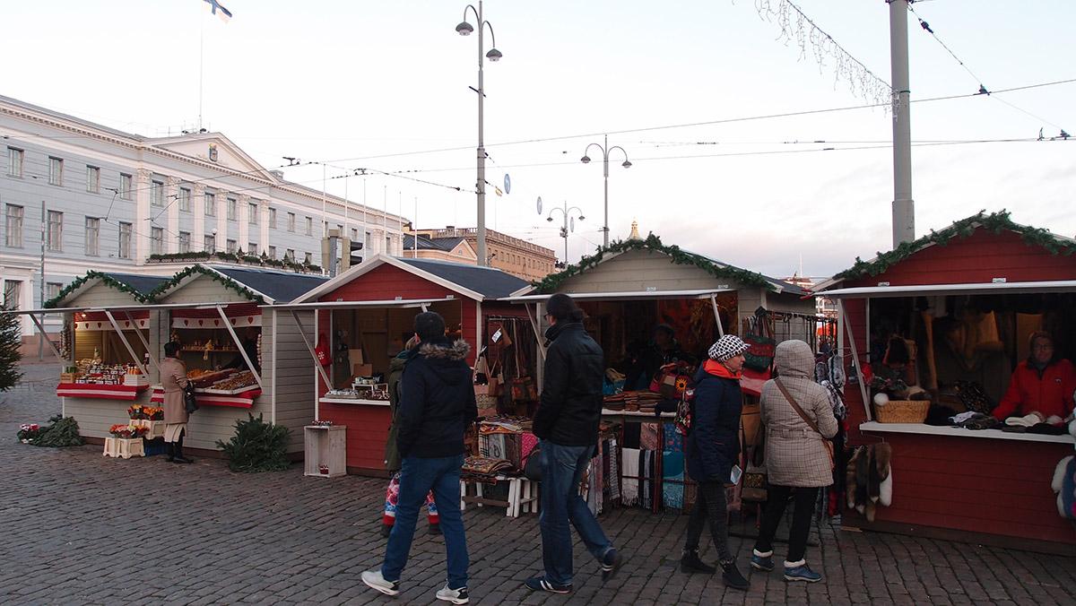 ヘルシンキのクリスマスマーケット