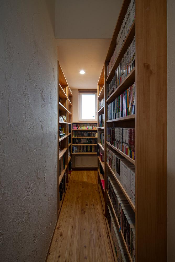 「図書館」がコンセプトの家族全員で使える図書コーナー