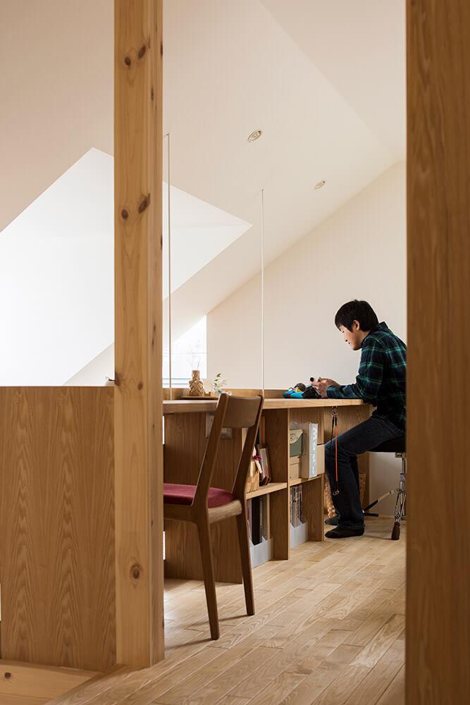 2人用の書斎スペース