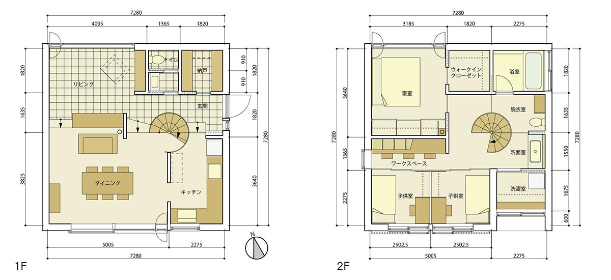 図5 斉藤工務店(福岡) fcaモデルハウス(設計:堀部安嗣)