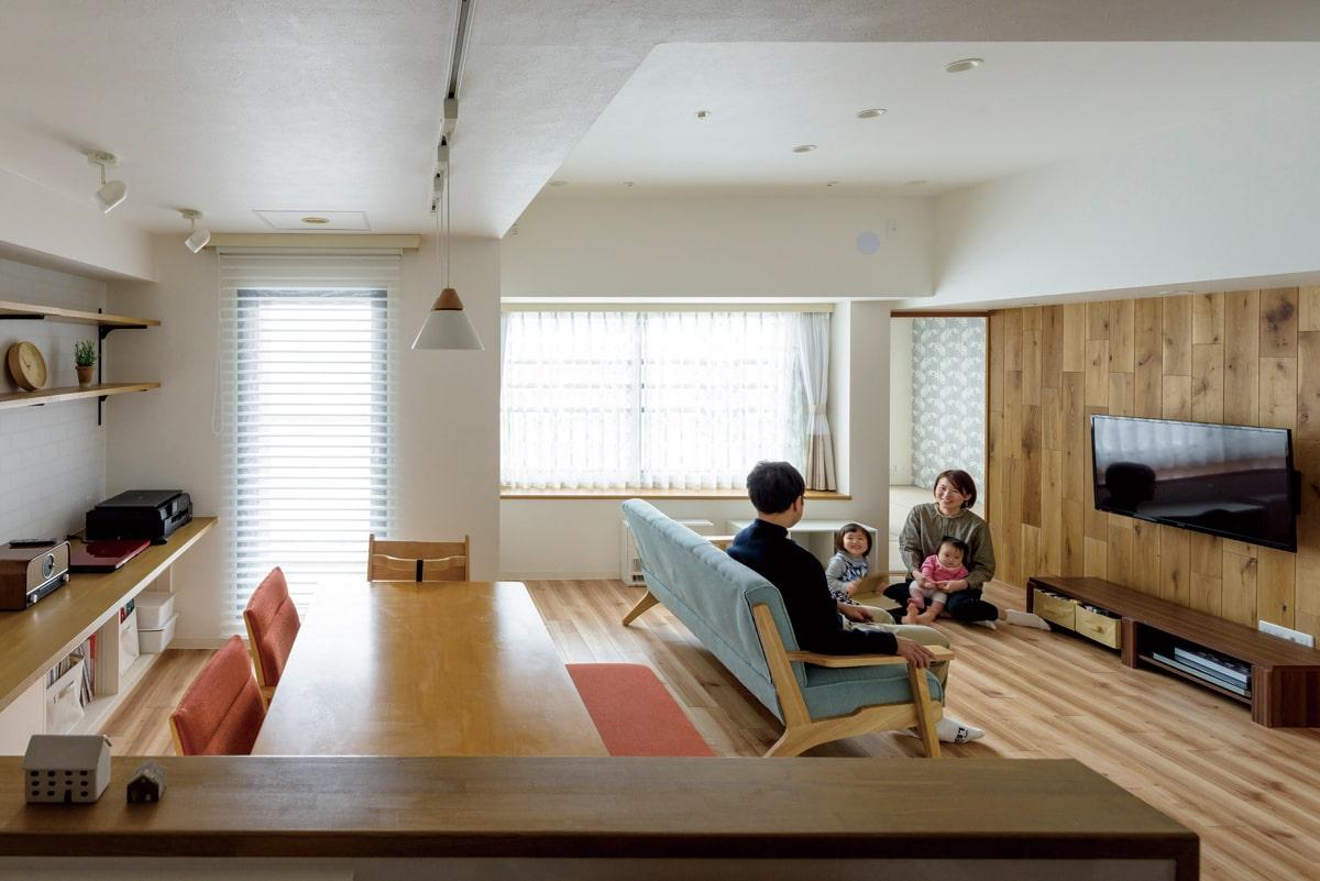 LDは空間にマッチするカーテン類も新たに採用。トータルコーディネートを意識した提案も、SAWAI建築工房ならでは