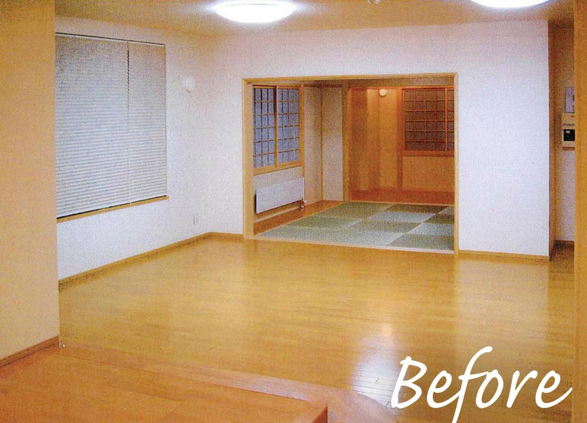 和室があった場所は家族で使うライブラリーに変更した