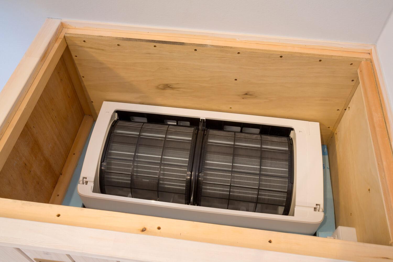 床下エアコンが床下の空間を隅々まで暖め、家全体を暖める