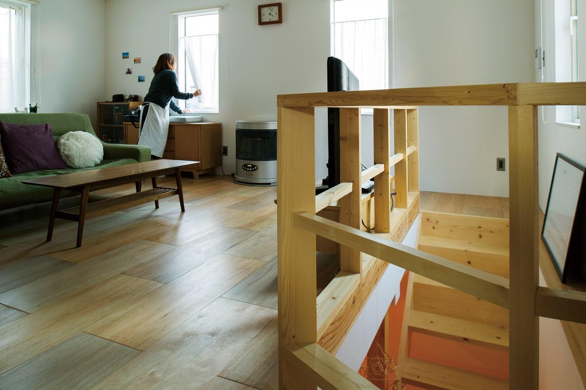 使いにくかった動線は大胆に変更し、新たに階段をつけ暮らしやすく