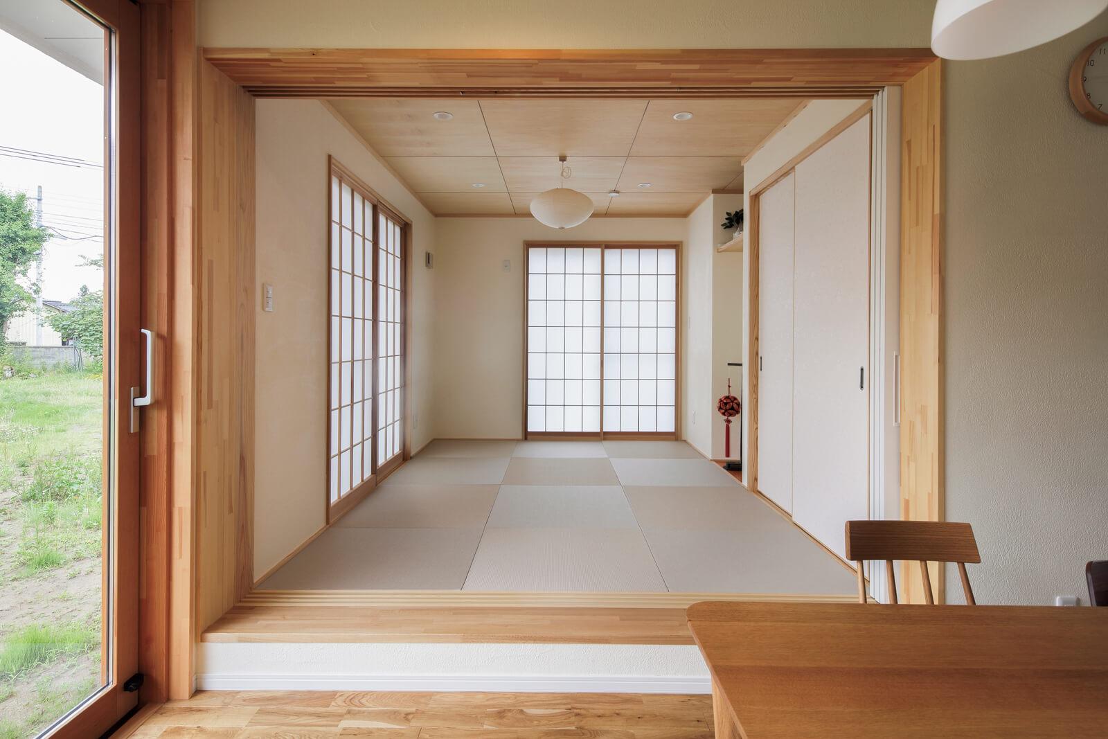 健住会みやぎに加盟している工務店の住宅実例。どの住まいも自然素材をふんだんに使用した木のぬくもりあふれる健康住宅である