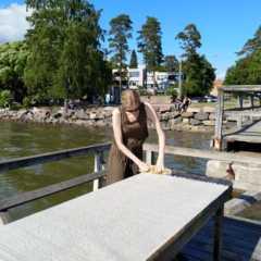 フィンランドの夏の習慣。海辺でラグをお洗濯