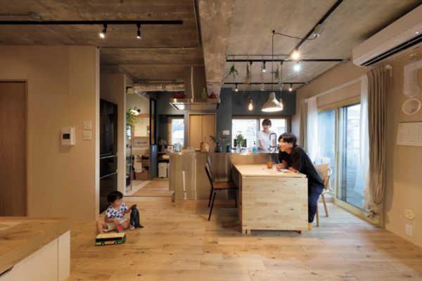 「工作室」をイメージした、大満足マンションリノベ