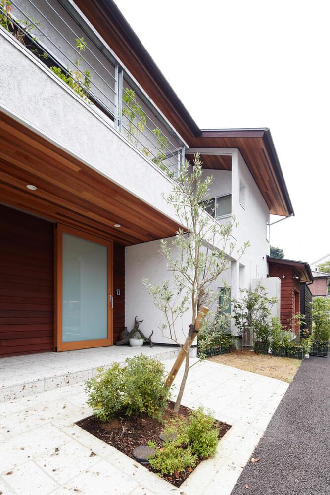 建物まわりには適材適所の緑を配置。さまざまな景色を切り取ることができる
