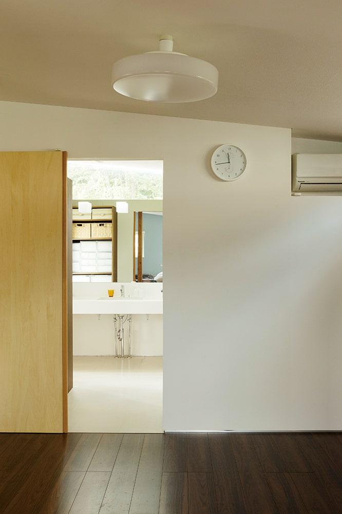 人が集まることの多いSさん宅。洗面・浴室は2階に設置