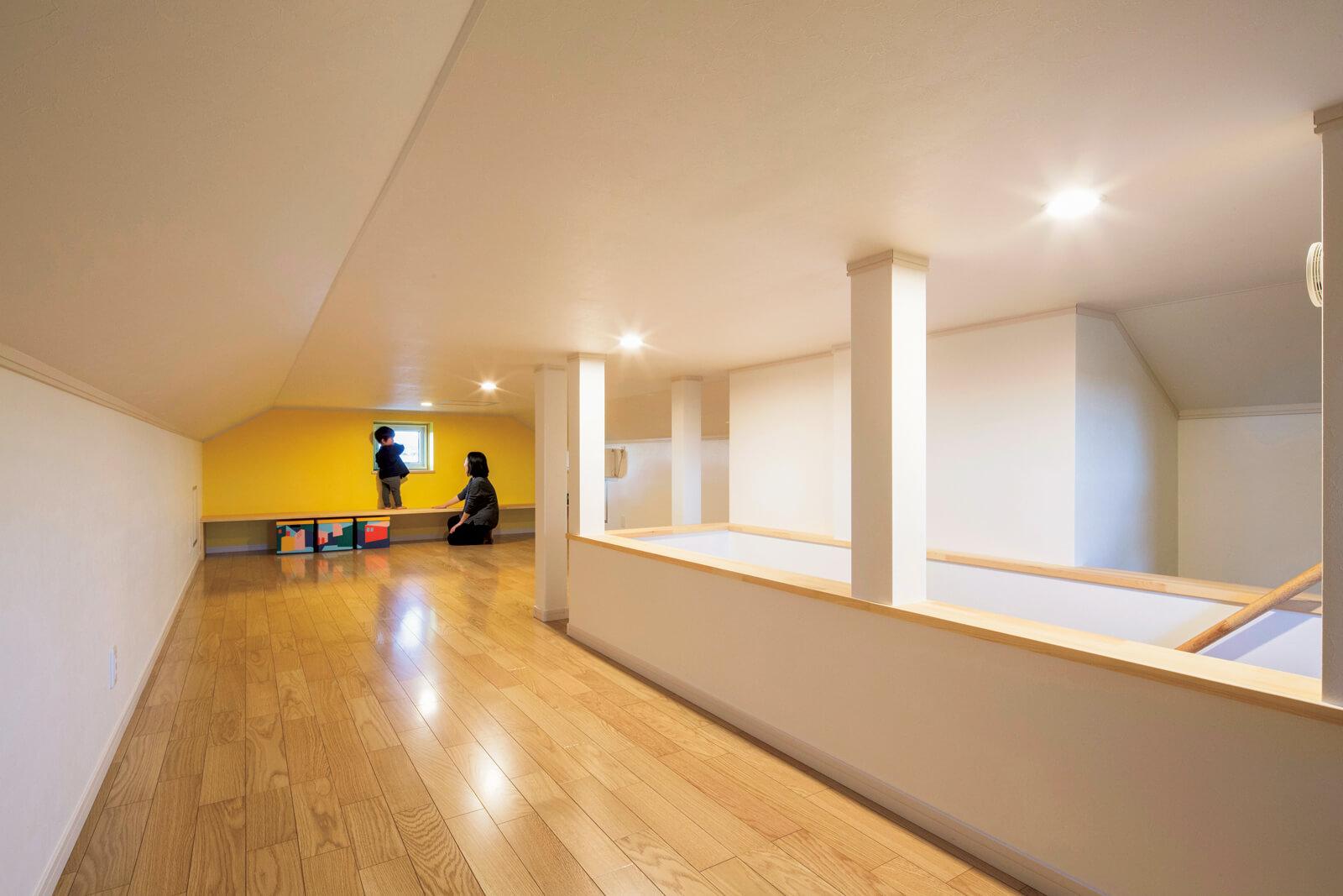 315㎜屋根断熱を施工しているからこそ小屋裏収納がただの物置に終わらず、快適に過ごせる空間となる