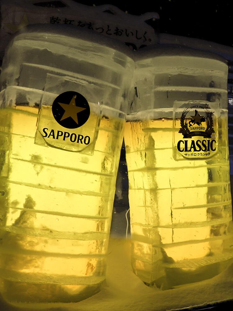 サッポロビールの氷像