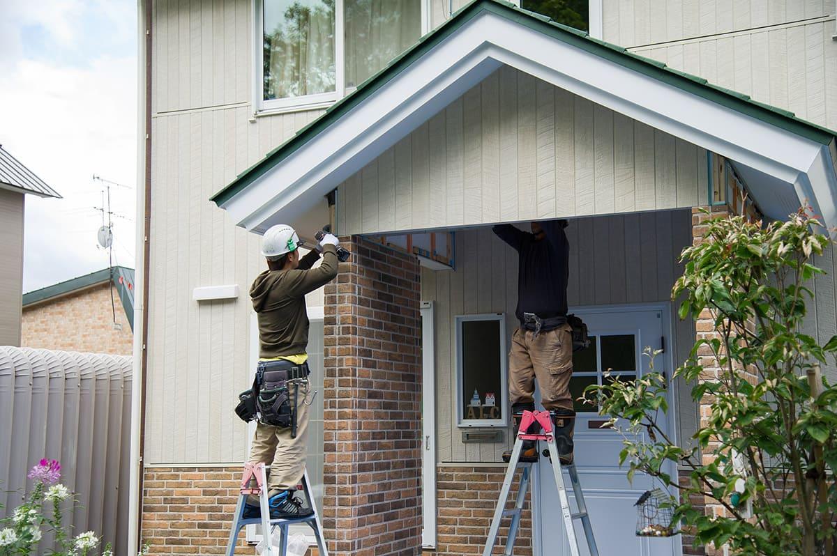 その家の顔となる外壁工事