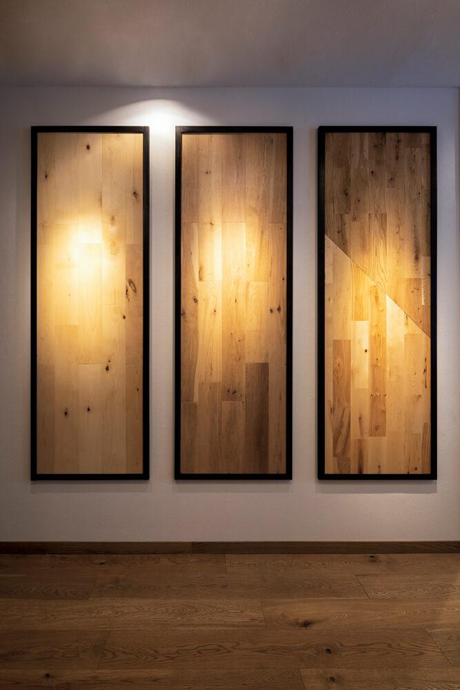 同じ材でも、材の幅や張り方で印象がガラリと変化する。それも無垢材の面白さ