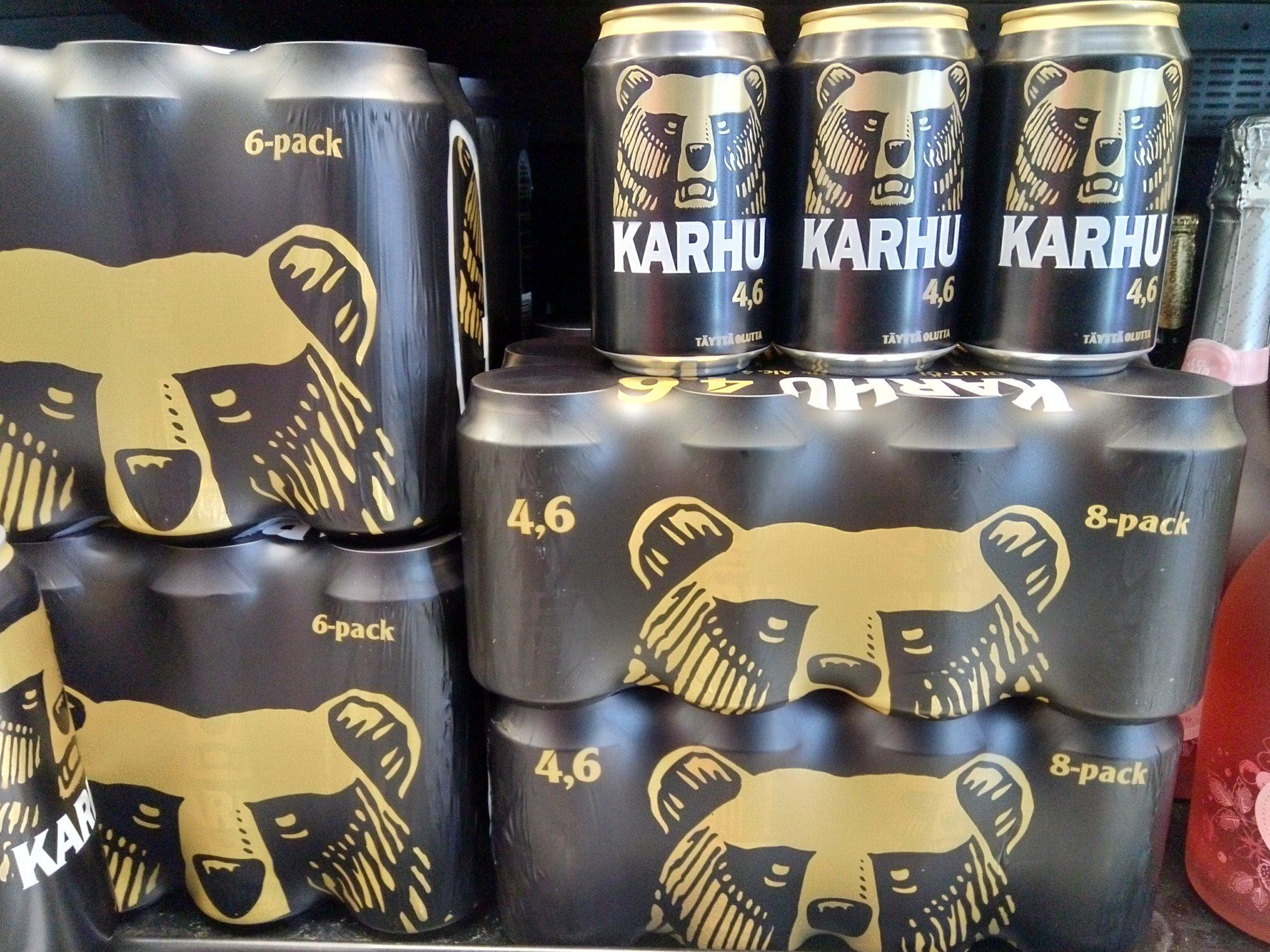 フィンランドで人気のビールも「「Karhu(カルフ)」
