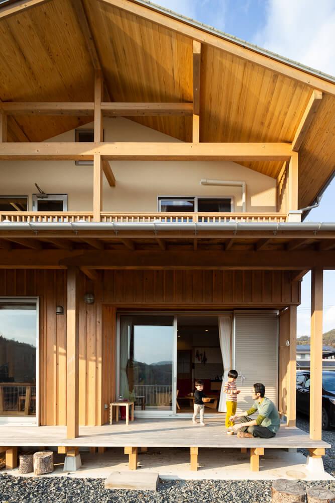 木組みが美しい伝統工法で建てられた住宅