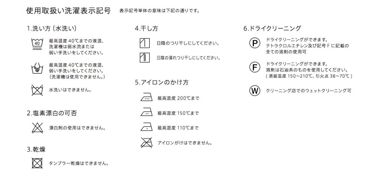 カーテンの洗濯表示記号(写真提供/(株)フジエテキスタイル)