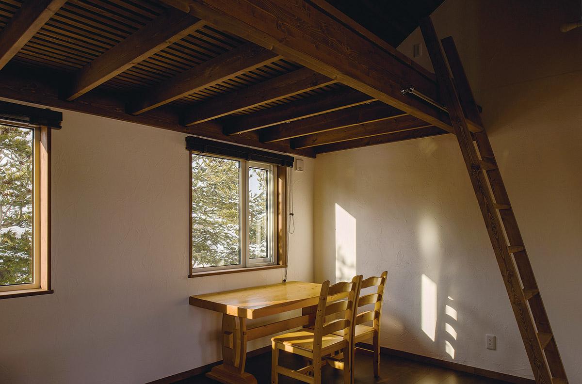 2階には将来子ども部屋にできるロフト付きの部屋も設けている