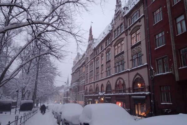 雪景色のヘルシンキを街歩き。