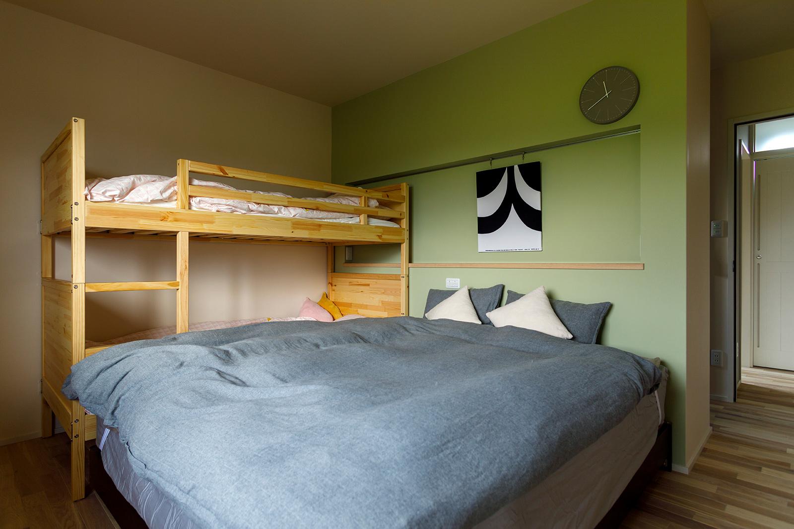 Aさん宅は1階に寝室を配置。「娘たちが独立した後は平屋的に暮らせるように配慮しました」と奥さん