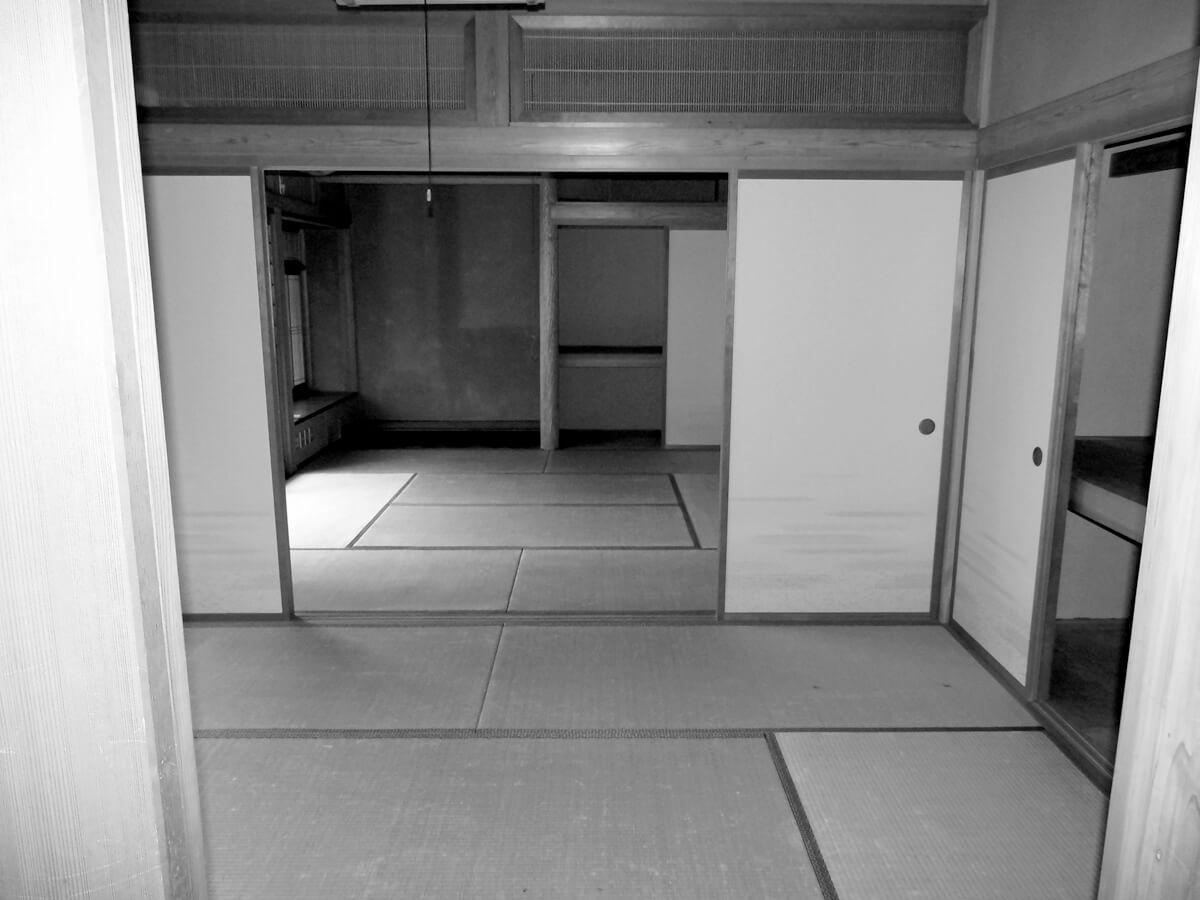 広縁のある続き間の和室だった1階が…