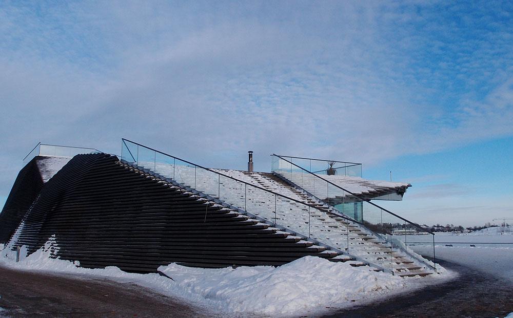 ヘルシンキの設計事務所Avanto Architects (アヴァント ア-キテクツ)による設計で、2016年に完成した