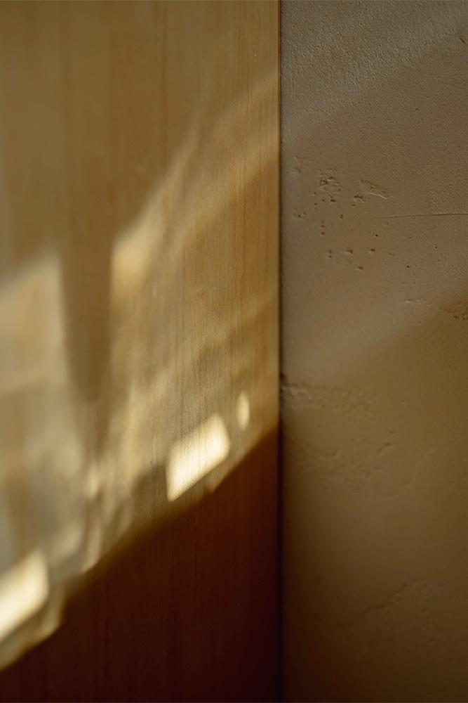 内装は、明るい色調のシナベニヤと塗り壁で仕上げている。優しい風合いが、心地よさをもたらす