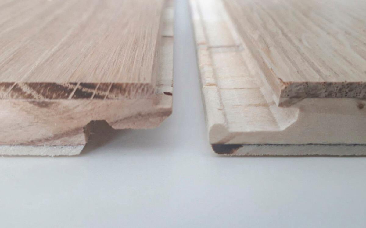 オザネとメザネがロック式に加工されていて、釘なしで床が施工が可能な仕様