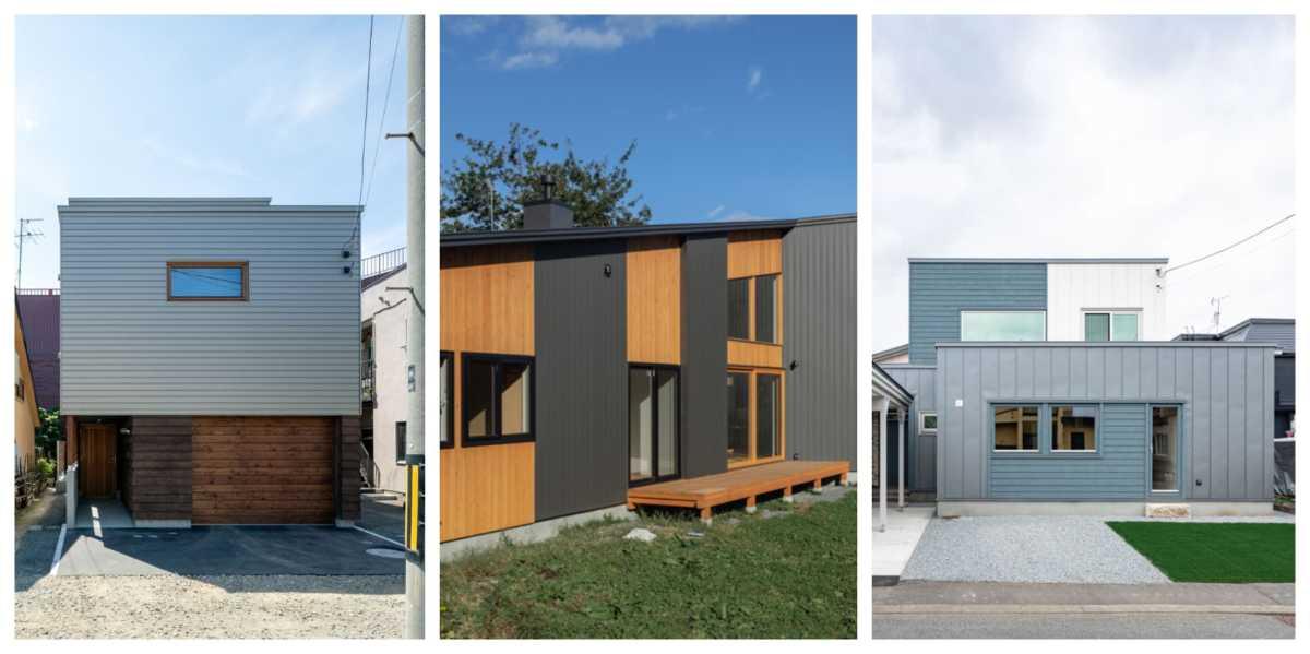 家の個性を演出する「木+ガルバリウム鋼板」の外観デザイン集