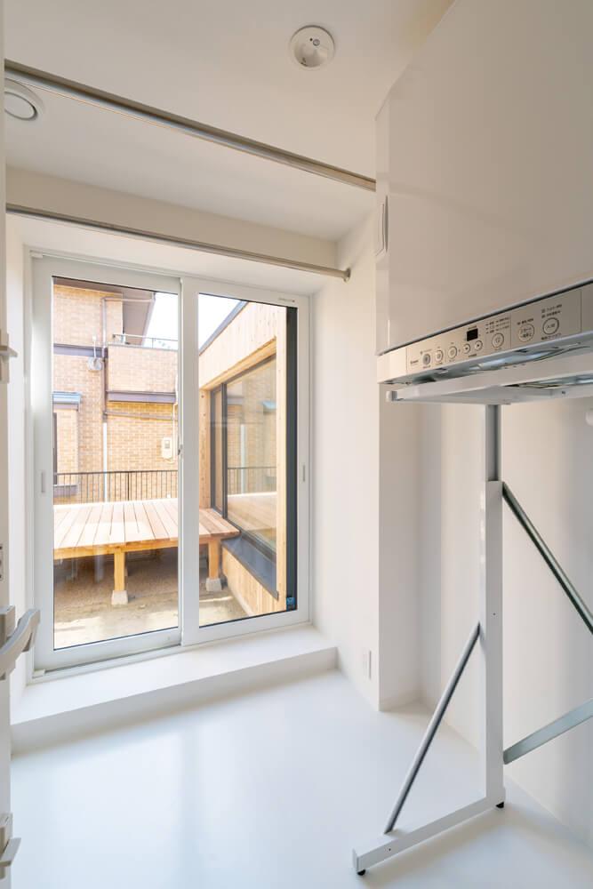 洗濯・物干し室は、家事動線を考慮して配置した